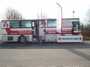 Car du service Transfusion pour les dons de sang